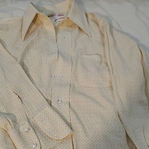 Vintage mens button up Arrow Knits silky soft